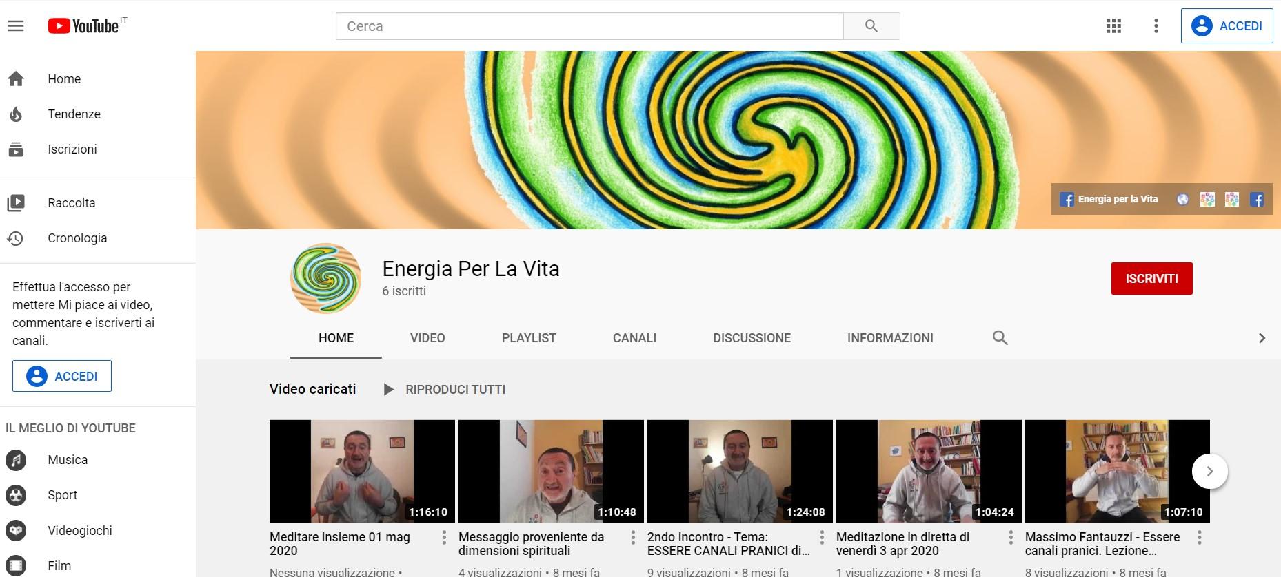 Meditazione Milano canale Youtube